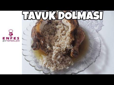 Fırın poşetinde iç pilavlı tavuk dolma 🍗
