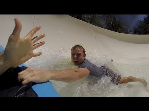 Water Slide Accident - Rider Falls Off The Ride