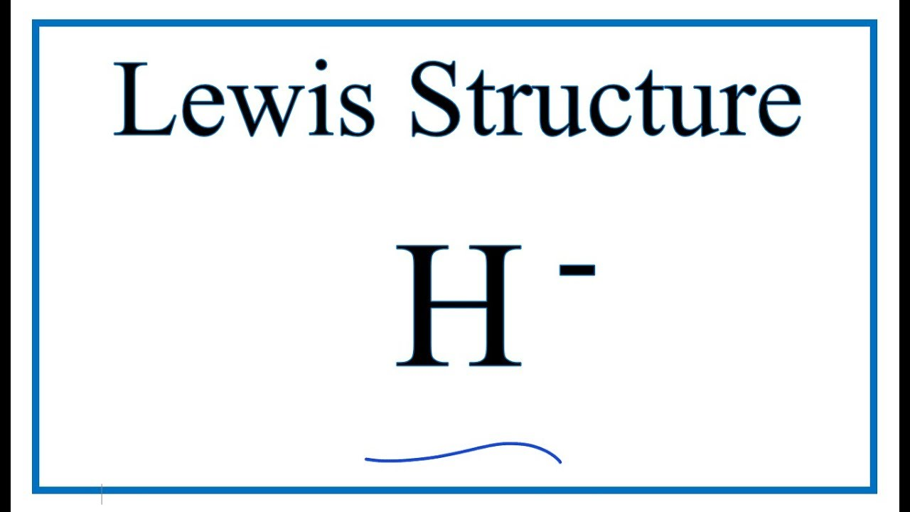 a step by step explanation of how to draw the h lewis dot structure