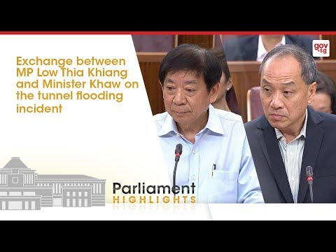 Exchange between MP Low Thia Khiang & Minister Khaw on tunnel flooding incident