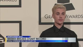 Justin Bieber breaks Elvis Presley's US albums chart record