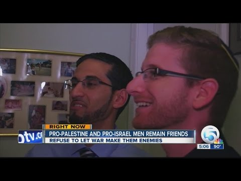 Pro-Palestine and Pro-Israel men remain friends