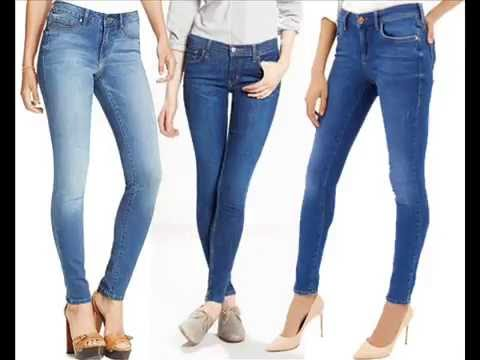 Skinny jeans look best when worn with high-heeled shoes. You can still wear them with traditional footwear, but high-heeled shoes will maximize the stylish appearance of skinny jeans. If you are worried about skinny jeans fitting too tight, consider opting for a pair of stretch denim skinny jeans. Made of a combination of denim and elastic.