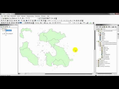 Geoprocessing Buffer Merge Dissolveและการคำนวณระยะทาง