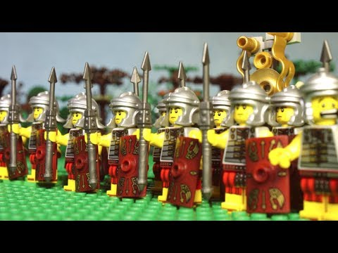 113 B.C. Lego Roman Battle With Barbarians (Cimbrian Wars) Lego History Film