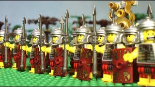 113 B.C. Lego Roman battle with Barbarians (Cimbrian wars) lego history film