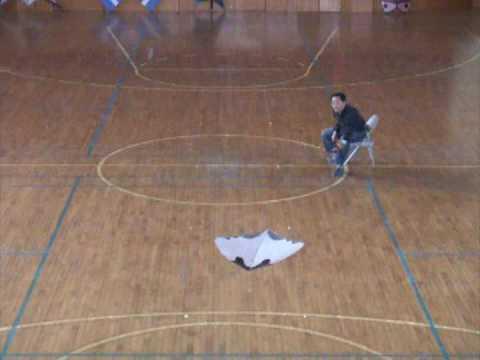 Play indoor kite on chair zen flyer youtube for Indoor kite design