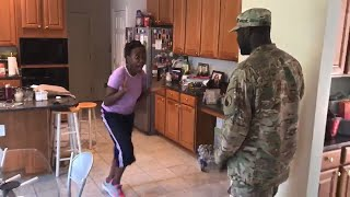 See Mom's Reaction as Military Hero Returns Home From Middle East