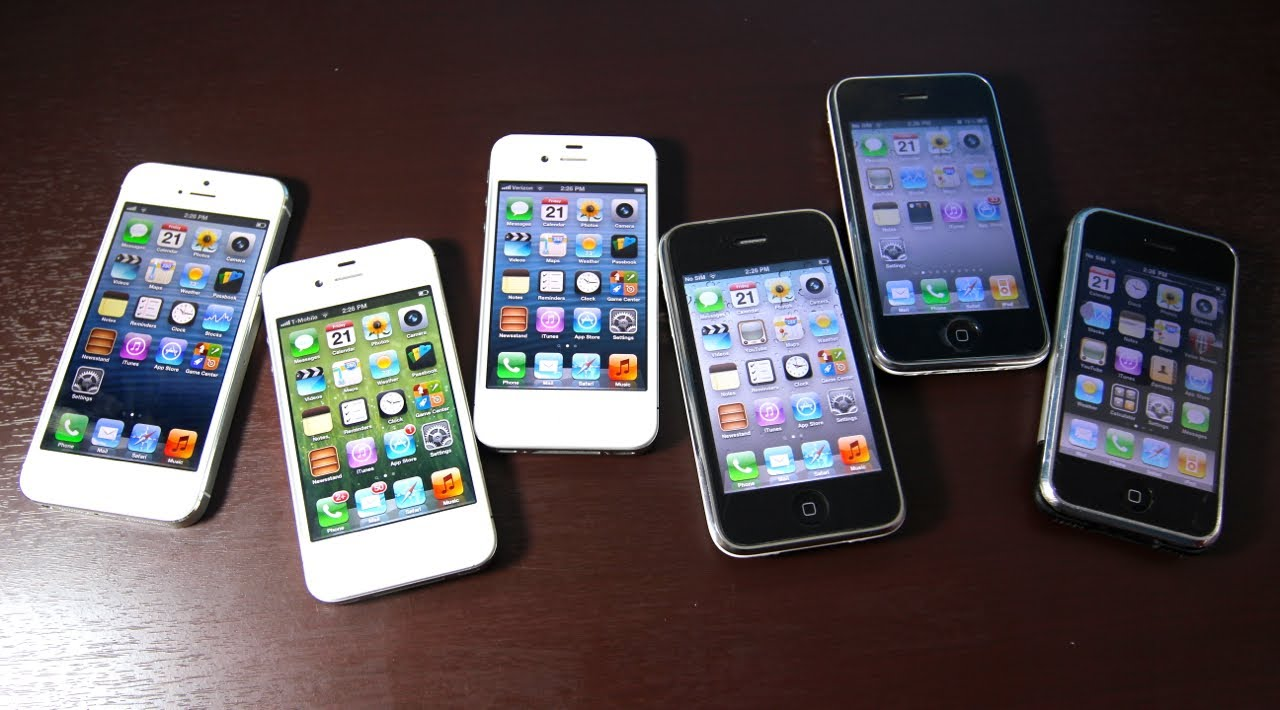 IPhone 5 VS 4S 4 3Gs 3G 2G Comparison Test