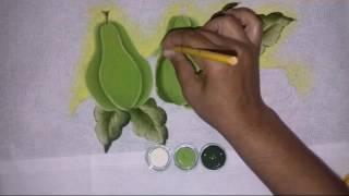 Pintura em tecido chuchu
