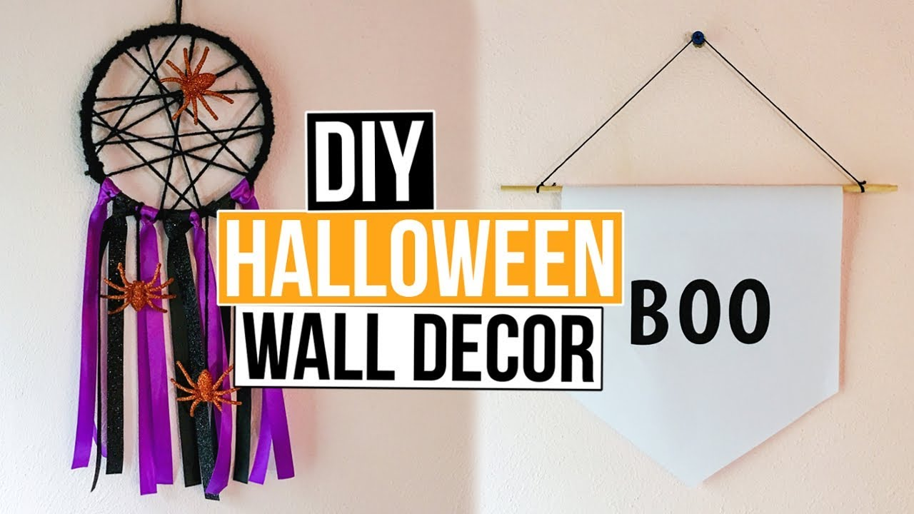 2 Diy Halloween Wall Decor Ideas