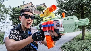 LTT Game Nerf War : Couple Warriors SEAL X Nerf Guns Fight Crime group Braum Crazy Skill New