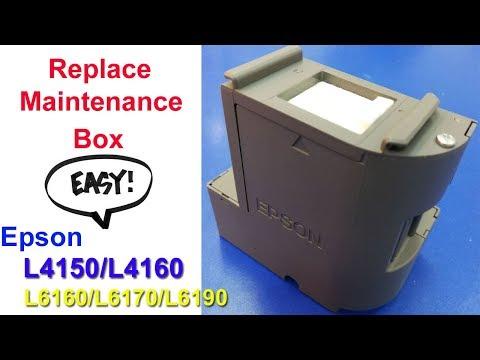 Epson L4150/L4160/L6160/L6170/L6190 Replace Maintenance Box (Easy)