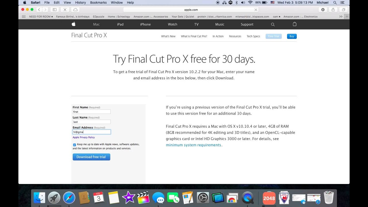 How To Get Final Cut Pro X Free Trial