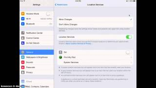 Setting iPads to Use Location Services (Find My iPad)