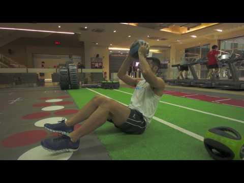 Chris Everingham - Medicine Ball - ab crunch exercises