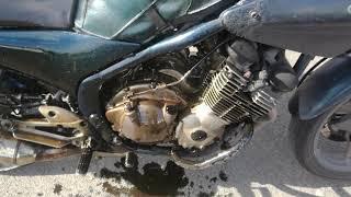 Moto Yamaha Diversion 600 cm3 1992  carter moteur explosé.
