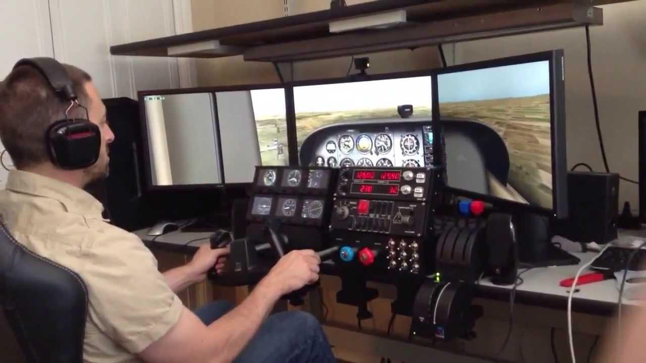 X Plane Simulator With Trackir And Saitek Pro Flight