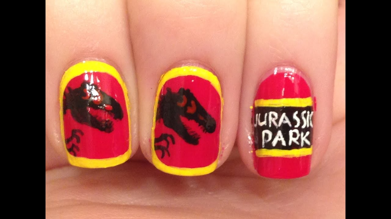 Jurassic Park Nail Art Tutorial (REQUEST) - YouTube