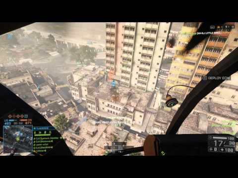 Battlefield 4 Little Bird 86-0 Killstreak! #1 IN CALIFORNIA w/Heli Kills in a Round! FLOOD ZONE MAP!