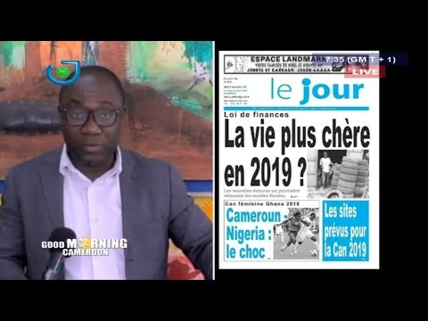 STV - PRESS REVIEW - REVUE DE PRESSE - Mardi 27 Novembre 2018 - Présentation : René Narcisse MOTTO