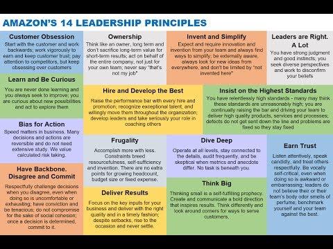 Amazon's 14 Leadership Principles via Jeff Bezos