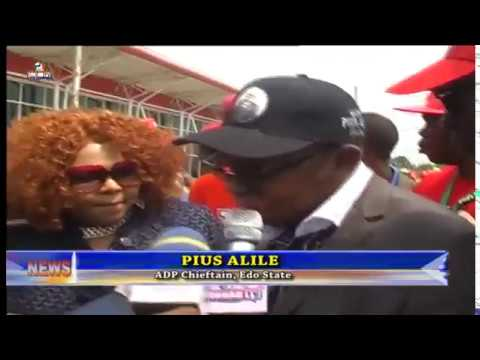 Pius Alile support group holds grand reception in his honour at benin airport