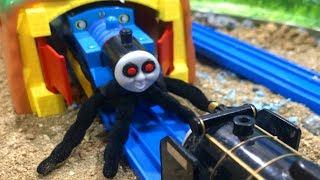 きかんしゃトーマスプラレール がおばけ電車に!Thomas & Friends  Trains is Ghost thumbnail
