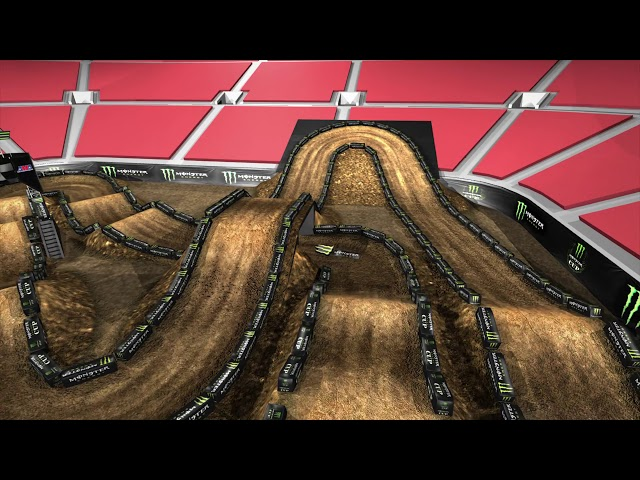 2019 Monster Energy Cup Track Map - Inside Right