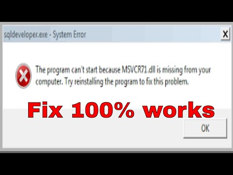 How to Fix MSVCR71.dll %100 Working - Windows 10/8/7 [2017 Tutorial]