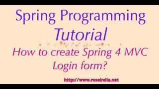 Wie zu erstellen, Spring MVC 4 Login-Formular?