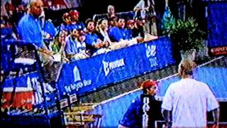 John McEnroe loses it at a Champions Series final versus Philippoussis 2011