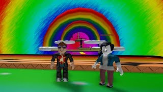 ROBLOX: MY MOTHER AND I WENT THROUGH OBSTACLES IN THE RAINBOW!!