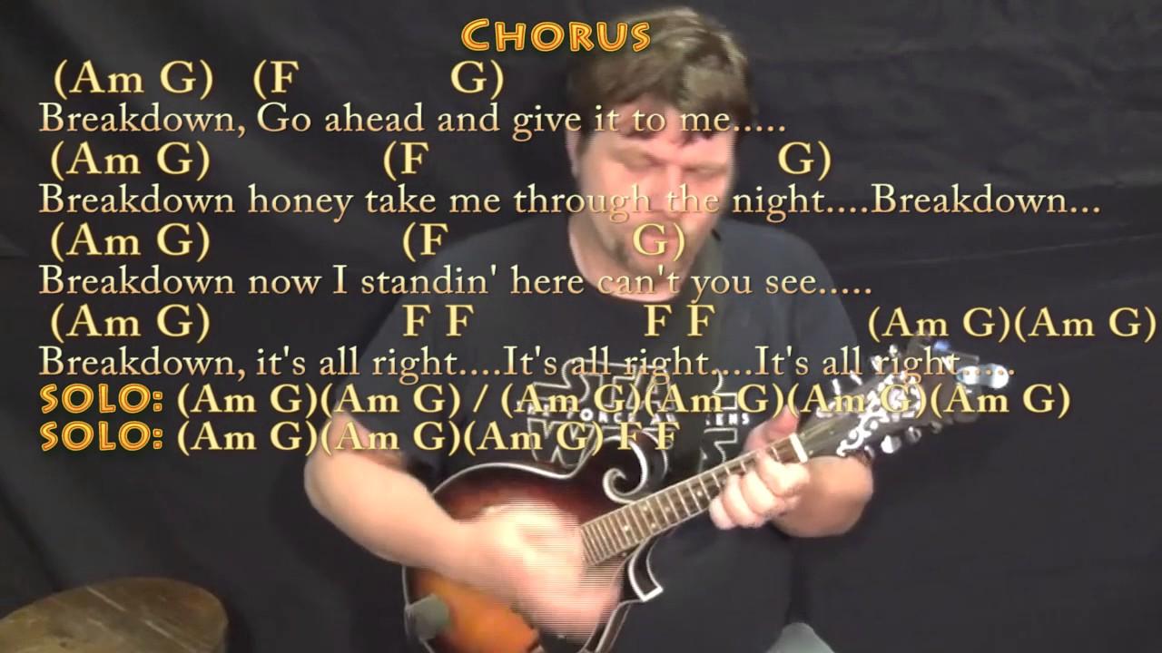 Breakdown tom petty mandolin cover lesson in am with chords breakdown tom petty mandolin cover lesson in am with chordslyrics hexwebz Images