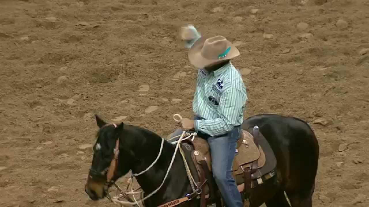 2014 Wrangler NFR Day 2 Tie Down Roping Winner Cade Swor