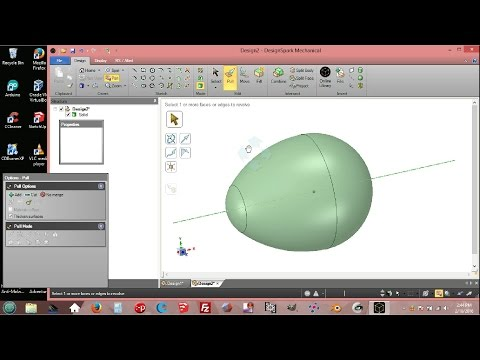 DesignSpark Mechanical: From Ellipse To Ovoid  + The Egg Shape
