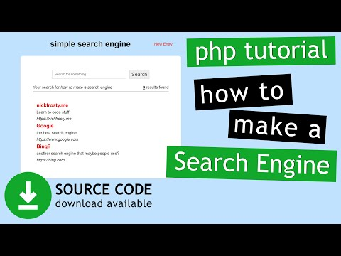 PHP Tutorial: Make a simple search engine MySQLi (1/2) | How to create a custom search engine in PHP