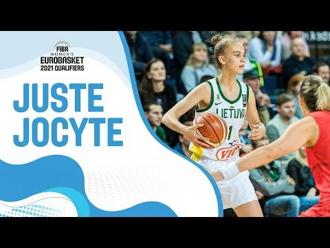 13-year-old Juste Jocyte makes her Lithuania senior national team debut and gets buckets!
