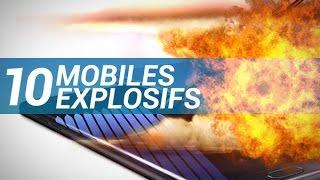 10 MOBILES EXPLOSIFS (affaire Note 7 et autres exemples) - W38