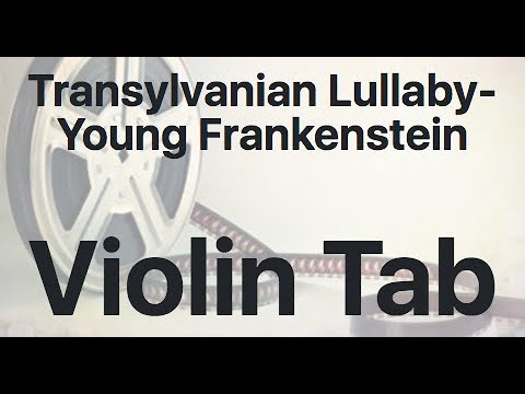 Learn Transylvanian Lullaby- Young Frankenstein on Violin - How to Play Tutorial