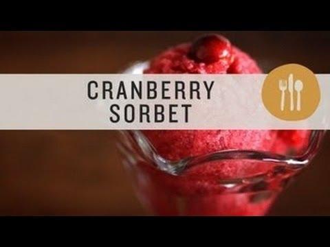 Superfoods - Cranberry Sorbet