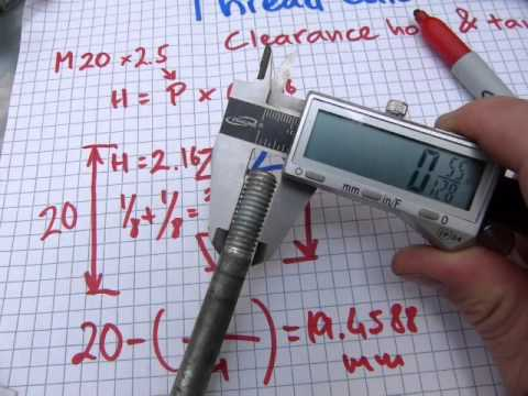 Clearance hole and tap size calculation - YouTube