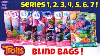 Trolls Series 1 2 3 4 5 6 7 Holiday Blind Bags Opening Surprise Toys Dreamworks