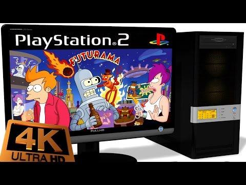 PCSX2 1.5.0 PS2 Emulator - Futurama (2003). Ingame 4K 60FPS. Test #2