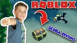 LOOKING FOR TREASURE IN MYSTERIOUS LAKE in ROBLOX SCUBA DIVING AT QUILL LAKE