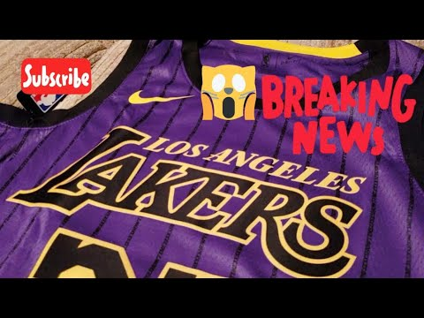 separation shoes 08c88 d81ec New Nike Los Angeles Lakers City Edition Jersey 2018-19 Review