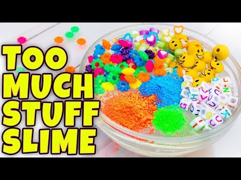 ADDING TOO MUCH INGREDIENTS INTO SLIME! TESTING SLIME WITH TOO MANY INGREDIENTS!