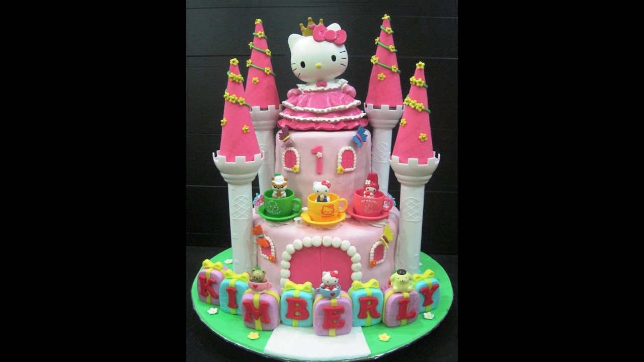 Hello Kitty Birthday Cake Youtube