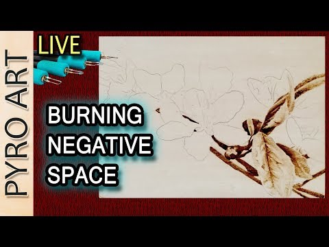 Pyrography: Live Wood Burning Negative Space to make light subjects Pop! Pyrography 101 tutorial