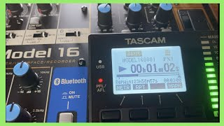 Tascam Model 16 Overview - Using A Tascam Multitrack Recorder As A DAW Controller & USB Interface